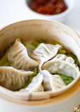 <p>we have steam dumplings and fried ones the frieds one r just longer to cook and crunchier</p>
